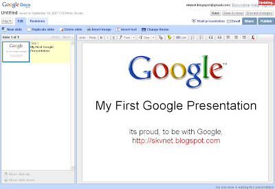 do remote presentations and chat conferencing with google