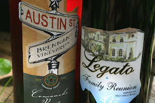 bottles of Texas wine