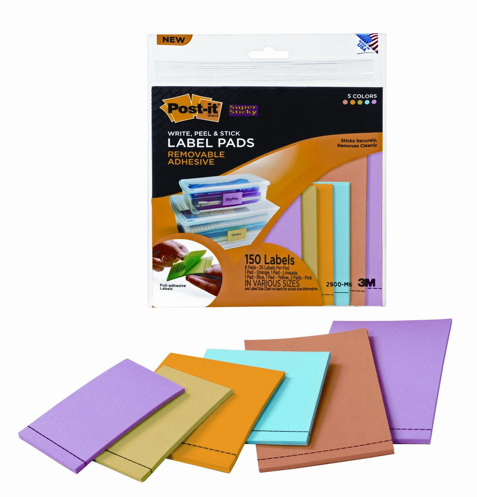 This is an image of Accomplished Post It Full Adhesive Label Pads