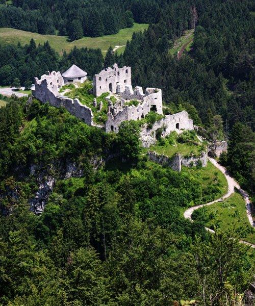 Ehrenberg Castle - looking down on lower ruins