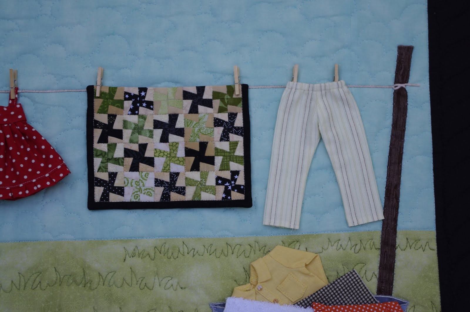 Clothesline Wall Hanging Ahhh Quilting