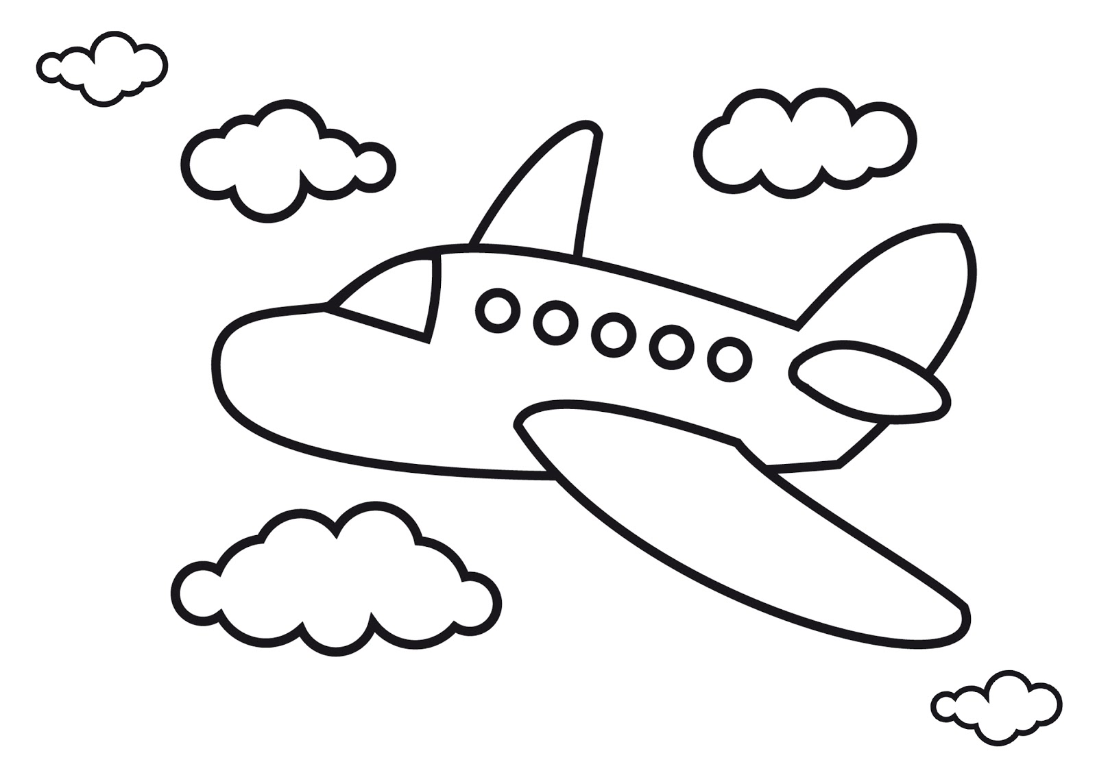 It's just an image of Impeccable Easy Airplane Drawing