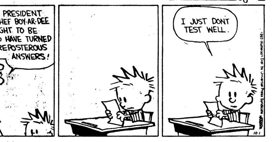 Calvin And Hobbes About Tests