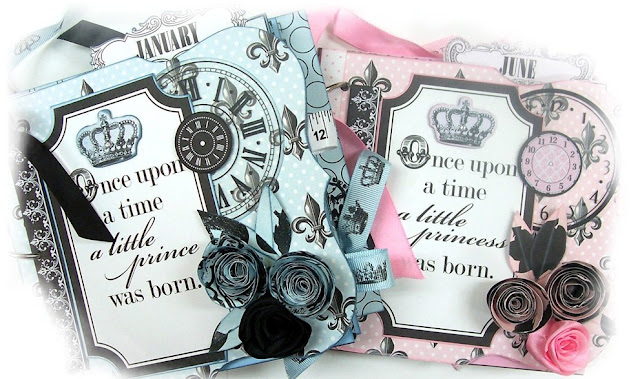 Terresa Collins Chic Bebe Boy & Girl Mini Scrapbook Albums