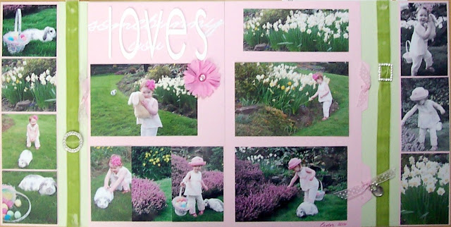 SomeBunny Loves You Easter Scrapbook Layout