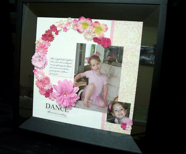 Paper Crafts Christmas Gift Ideas - Framed Scrapbook Layout