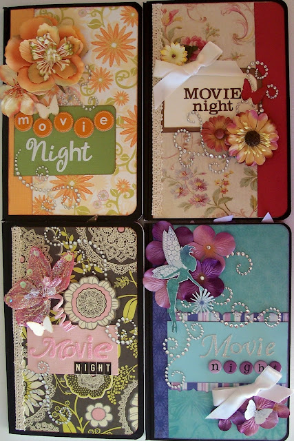 Movie Night Altered Journals