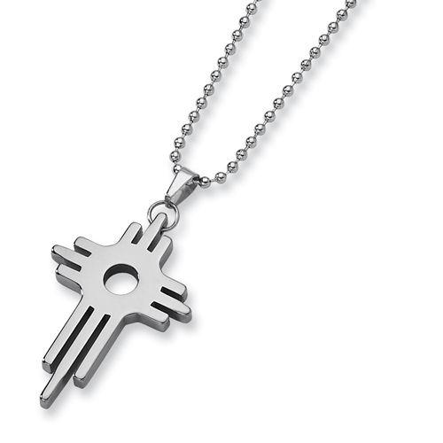 Tungsten Cross Necklace
