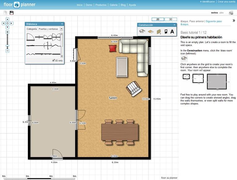 Recursos y utilidades de internet crear planos y dise ar for Planos de interiores