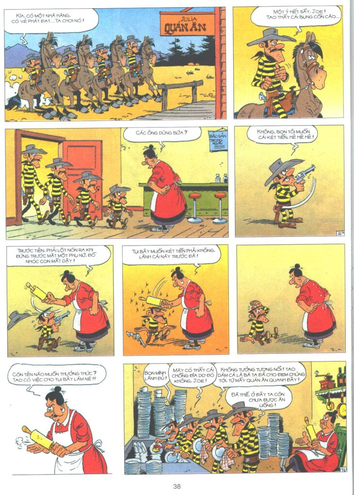 Lucky Luke tập 61 trang 36