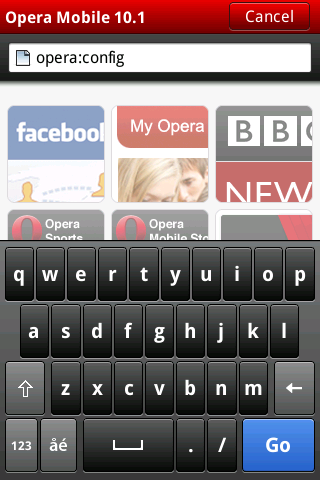 Proxy trick in Official Opera Mobile (Youtube in Android)