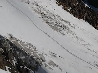 Bergsteiger auf dem Rofenkarferner