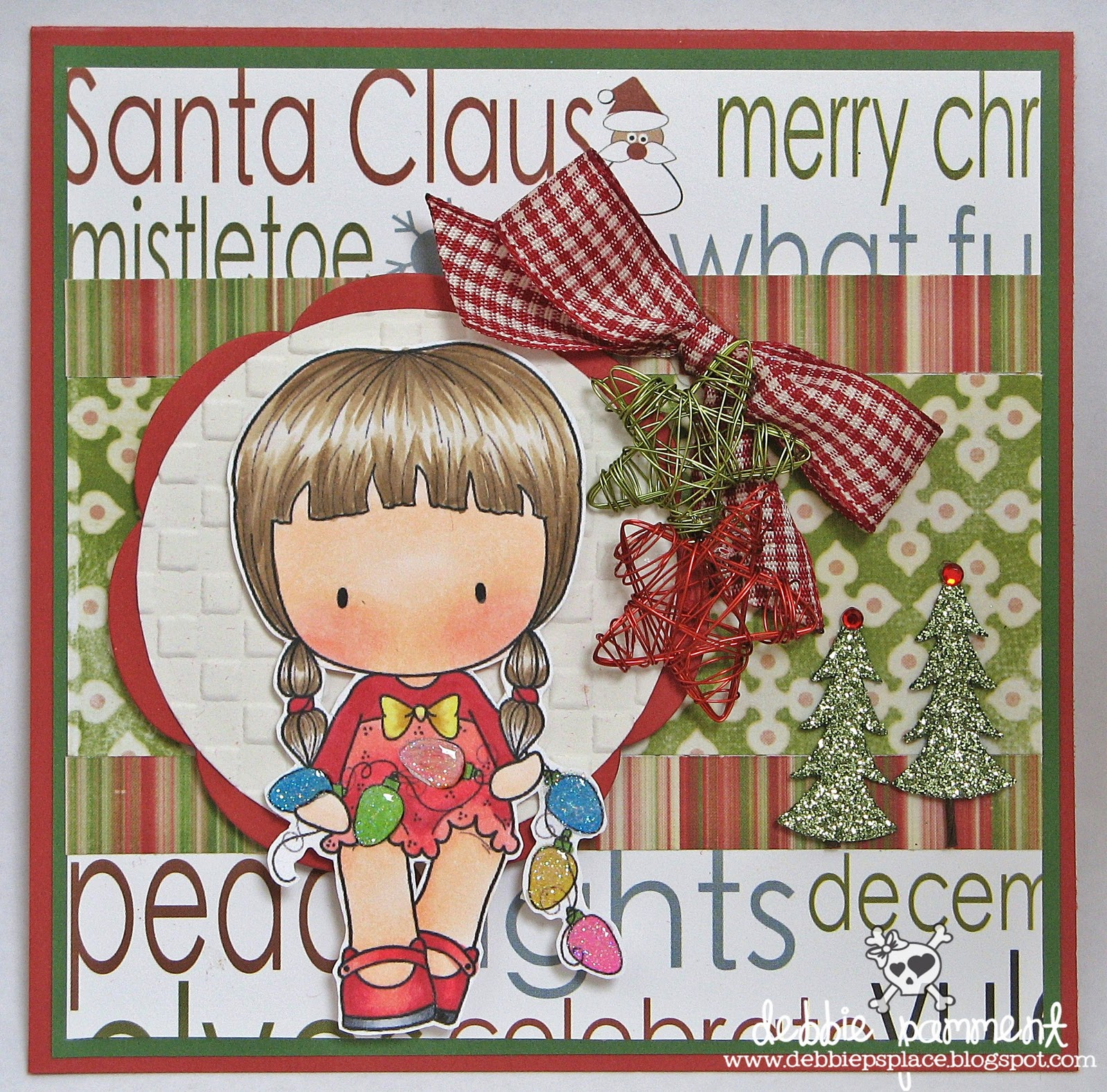 Debbie P S Place Tickled Pink Stamps Christmas Cherrie