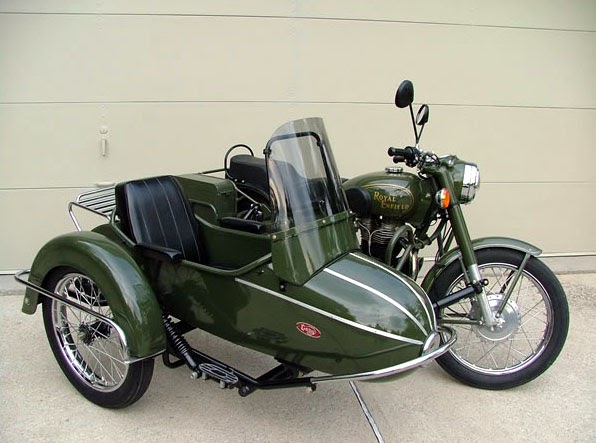 enfield military looks great with sidecar. Black Bedroom Furniture Sets. Home Design Ideas