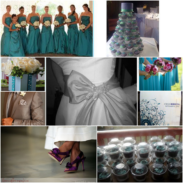 Silver Purple Teal And Wedding