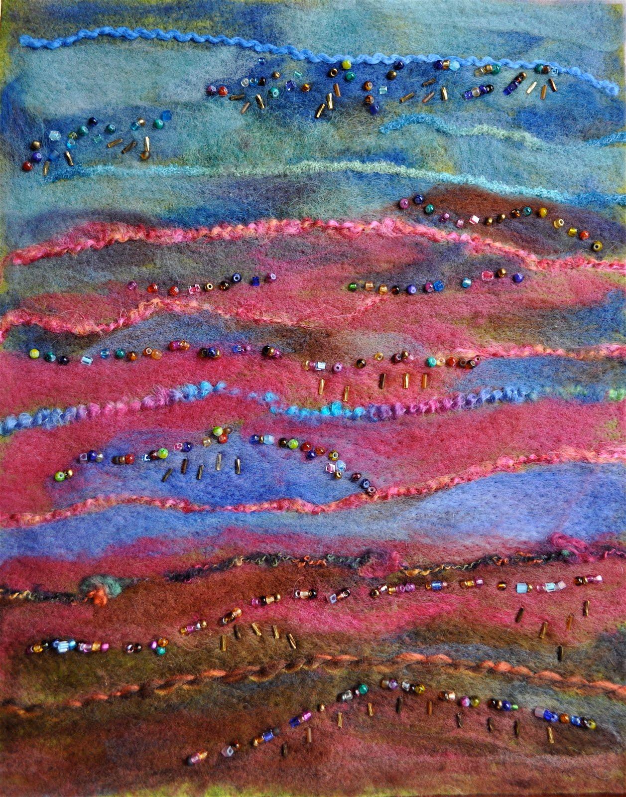 Luann kessi needle felting landscape for Wet garden designs