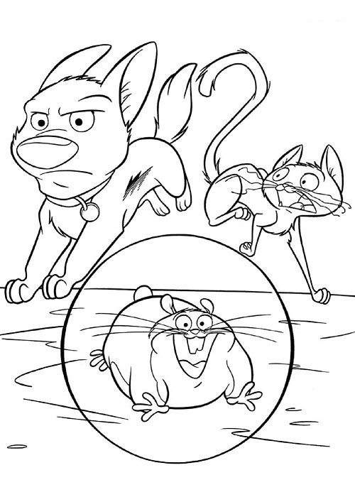 "Disney Soul: Dibujos para colorear de ""Bolt"""