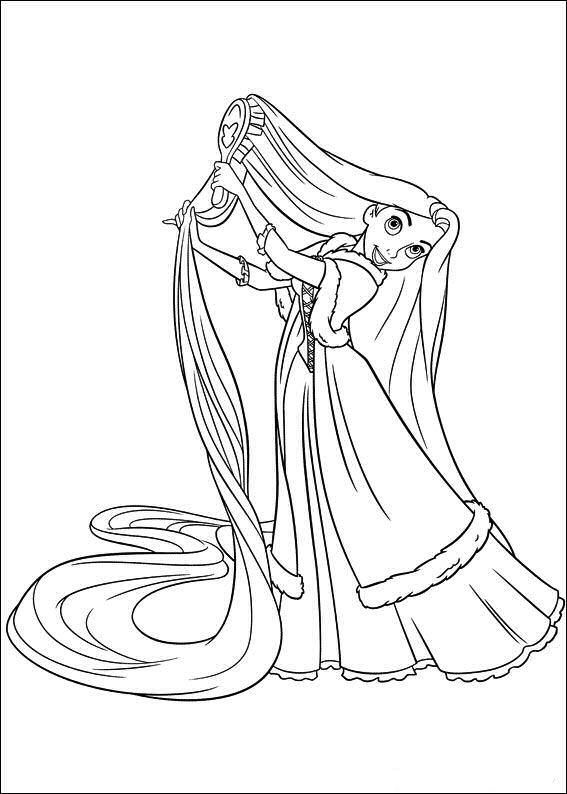 Princesas Disney Dibujos Para Colorear De Rapunzel