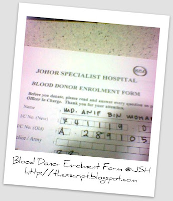 Blood Donor Enrollment Form