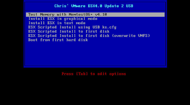 Chris' VMware ESX4.0 Update 2 USB - what else? ;o)