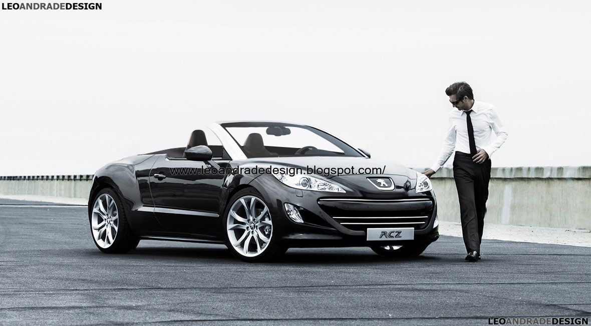 leo andrade design peugeot rcz cabrio. Black Bedroom Furniture Sets. Home Design Ideas