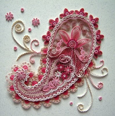 Featured quilling artist Christine Donehue via All Things Paper