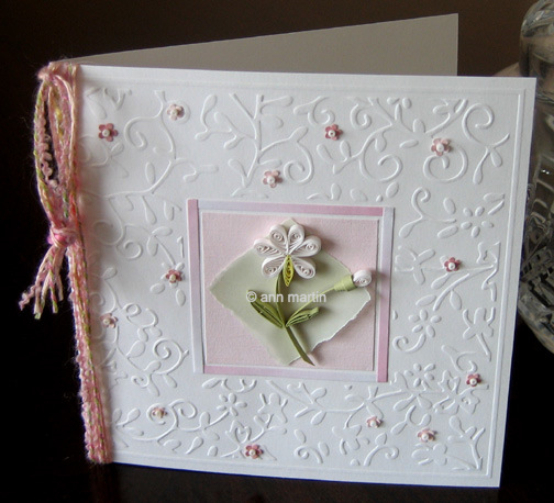 quilled floral card