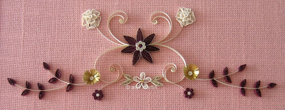 Marriage certificate - quilled design