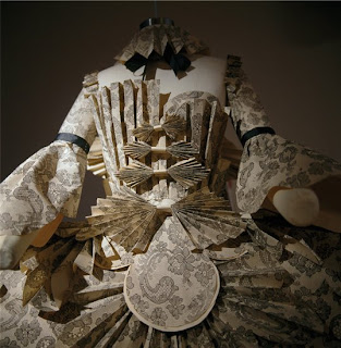 Rococo paper dress