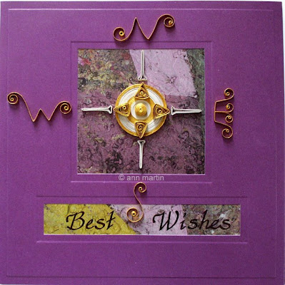 Quilled Gilded Compass Card