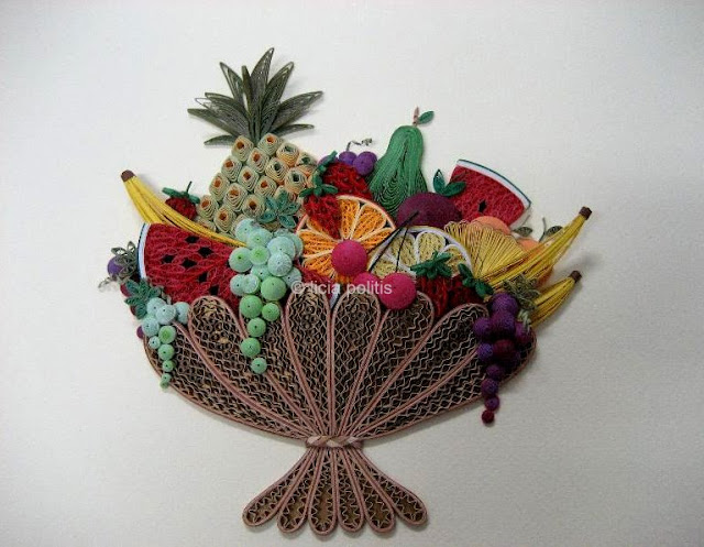 quilled fruit basket