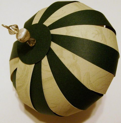black and cream paper ornament