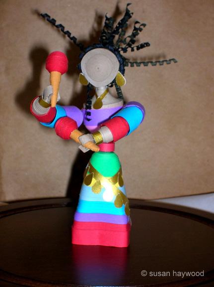 Quilled 3D dancer