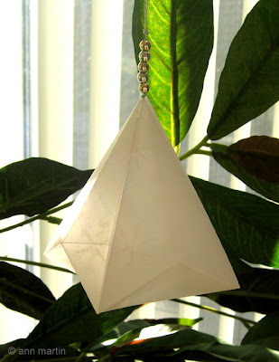 folded vellum paper German bell ornament