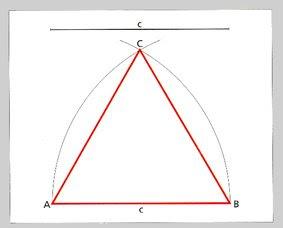 Resultado de imagen de triangle equilater donat el costat