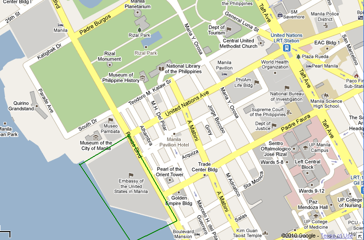 Us Embassy Manila Map How To Get To The US Embassy? | Directions, Routes, Maps