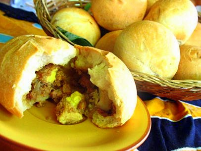 Philippines Cuisine Toasted Siopao