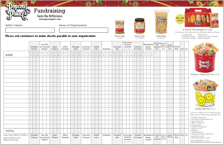 Fundraiser Order Form Template Excel Image collections - template ...