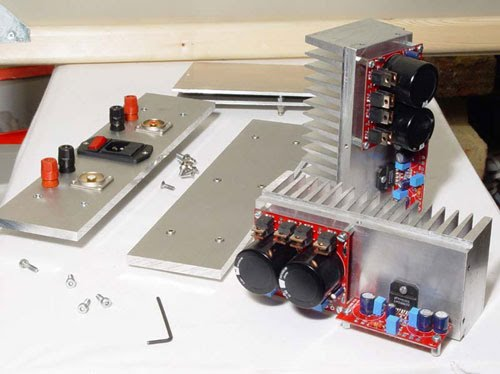 ba1404 lm3886 power amp with diy chassis