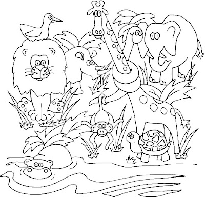 Jungle Safari Vbs Coloring Sheets Colorings Net