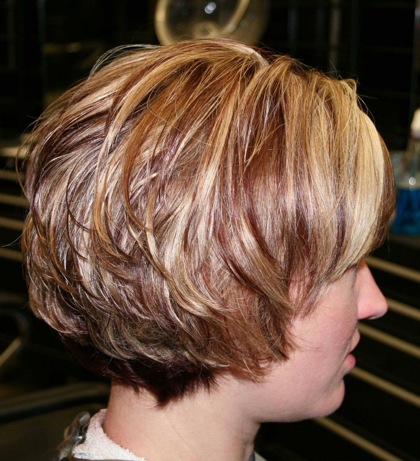 Inverted Stacked Bob Curly Hair
