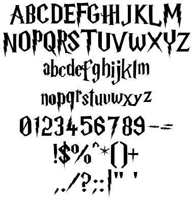 Graffiti Alphabet Letters A Z Harry Potters Design