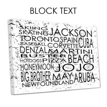 grafity font: Graffiti Block Letters Text in Canvas