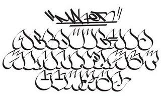 Grafity Graffiti Alphabet Letters A Z Water Drop Copy