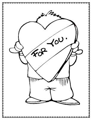 Hearts With Ribbons Coloring Pages