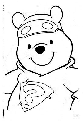 Disney Coloring Pages : Super Hero Pooh >> Disney Coloring