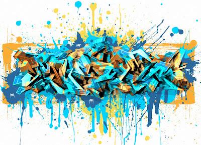 New Graffiti Master 3D Arrow Wild Art With Spray Brushes