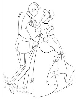 Disney Cinderella Coloring Pages Free Printable Pictures
