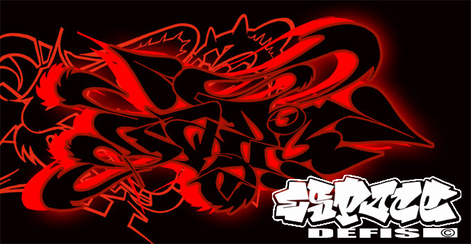 Best Cazo Graffiti Alphabet Effect With Combination Red Anda Black Color