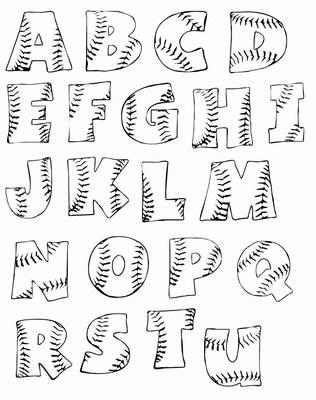 arsaroceu Printable Graffiti Bubble Letters A-Z